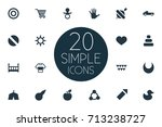vector illustration set of... | Shutterstock .eps vector #713238727