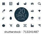 vector illustration set of... | Shutterstock .eps vector #713241487