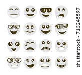 emoji emoticon expression icons ... | Shutterstock .eps vector #713245597