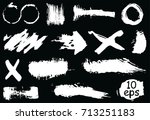 collection of vector grunge... | Shutterstock .eps vector #713251183