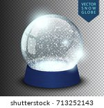 snow globe empty template... | Shutterstock .eps vector #713252143