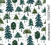 christmas seamless pattern....   Shutterstock .eps vector #713257447