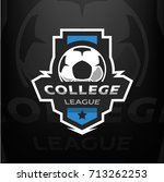 football logo template. | Shutterstock .eps vector #713262253