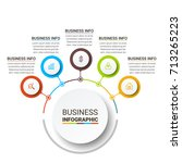 business infographic elements | Shutterstock .eps vector #713265223