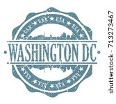 washington dc stamp post... | Shutterstock .eps vector #713273467