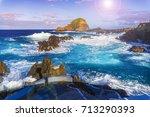 coastline at porto moniz ... | Shutterstock . vector #713290393