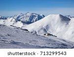 view of alps in zillertal... | Shutterstock . vector #713299543