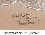 love on the sea | Shutterstock . vector #713299603