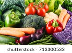 composition with variety of raw ...   Shutterstock . vector #713300533
