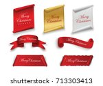 scroll red  merry christmas ... | Shutterstock .eps vector #713303413