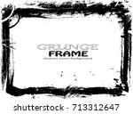 grunge frame. vector... | Shutterstock .eps vector #713312647