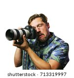 funny retro man with mustache... | Shutterstock . vector #713319997