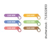 set of click here button with... | Shutterstock .eps vector #713322853