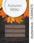 autumn design on dark... | Shutterstock .eps vector #713344273