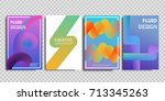 vector set of realistic... | Shutterstock .eps vector #713345263