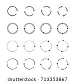 sets of black circle arrows.... | Shutterstock .eps vector #713353867