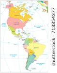 north and south america... | Shutterstock .eps vector #713354377