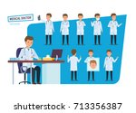 set of character person medical ...   Shutterstock .eps vector #713356387