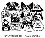 group animals pet shop  home... | Shutterstock .eps vector #713360467