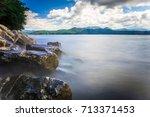 beautiful landscape scenes at...   Shutterstock . vector #713371453