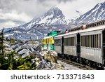 white pass mountains in british ...   Shutterstock . vector #713371843