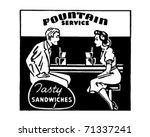 fountain service 2   retro ad... | Shutterstock .eps vector #71337241
