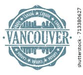 vancouver stamp post skyline... | Shutterstock .eps vector #713380627
