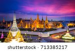 the beautiful of  wat phra kaew ... | Shutterstock . vector #713385217