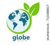globe logo template   Shutterstock .eps vector #713388817