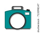 photographic camera icon image  | Shutterstock .eps vector #713398147