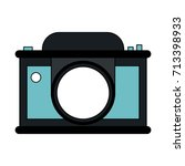 photographic camera icon image  | Shutterstock .eps vector #713398933