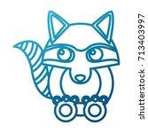 racoon animal cartoon | Shutterstock .eps vector #713403997