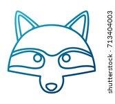 racoon animal cartoon | Shutterstock .eps vector #713404003