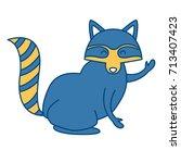 racoon animal cartoon | Shutterstock .eps vector #713407423