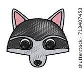 racoon animal cartoon | Shutterstock .eps vector #713407453