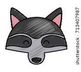 racoon animal cartoon | Shutterstock .eps vector #713407987