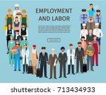 group of people with different... | Shutterstock .eps vector #713434933