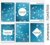 scientific brochure design... | Shutterstock .eps vector #713437033