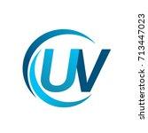 initial letter uv logotype... | Shutterstock .eps vector #713447023