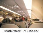 airplane boarding | Shutterstock . vector #713456527