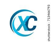 initial letter xc logotype...   Shutterstock .eps vector #713466793