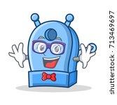 geek pencil sharpener character ... | Shutterstock .eps vector #713469697