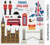 london set of london city... | Shutterstock .eps vector #713469853