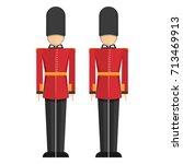 queen's guard  british army... | Shutterstock .eps vector #713469913