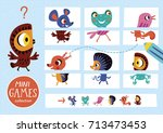 assemble the pictures. mini... | Shutterstock .eps vector #713473453