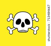 skull with crossbones caution... | Shutterstock .eps vector #713484667
