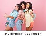 three international female...   Shutterstock . vector #713488657
