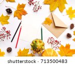 stylish composition of letter ... | Shutterstock . vector #713500483