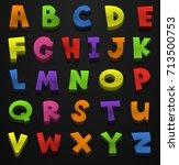 font design for english... | Shutterstock .eps vector #713500753