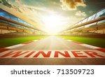 view of the infinity empty... | Shutterstock . vector #713509723